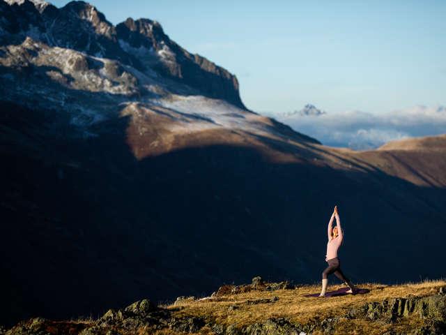 Yoga insolite à 2000 m d'altitude