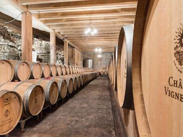 Visite des caves et de la galerie d'art contemporain du château Vignelaure
