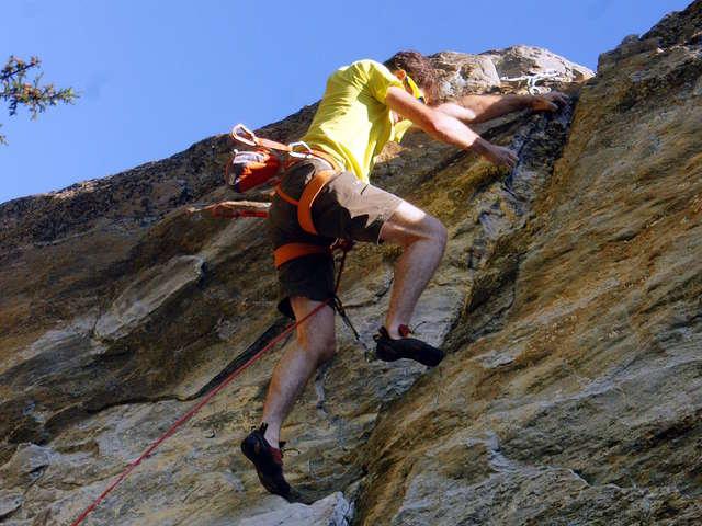 Climbing wall at Domus
