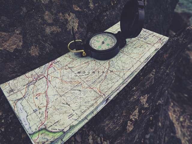 Orienteering in the village of Grimaud