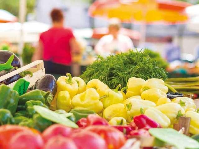 Le marché du Patio Fleuri