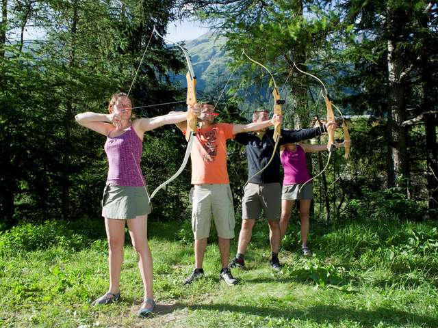 Discovery of archery in the forest