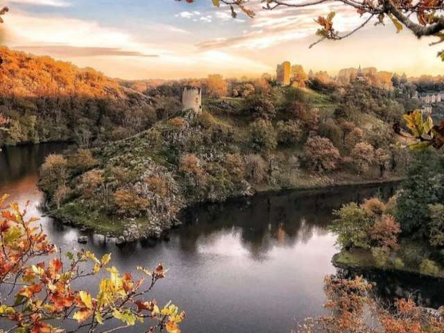 The old medieval fortress of Crozant
