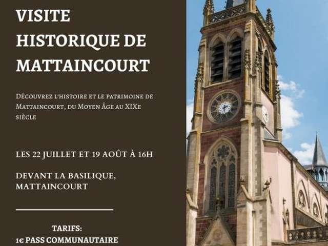 VISITE DU CENTRE HISTORIQUE ET BASILIQUE DE MATTAINCOURT