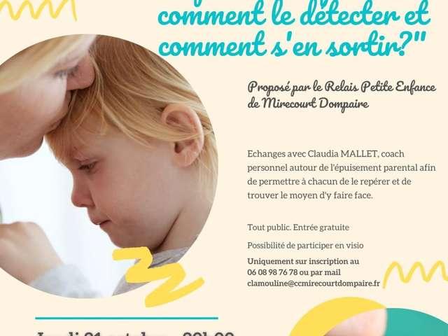 SOIRÉE D'ÉCHANGE SUR L'ÉPUISEMENT PARENTAL