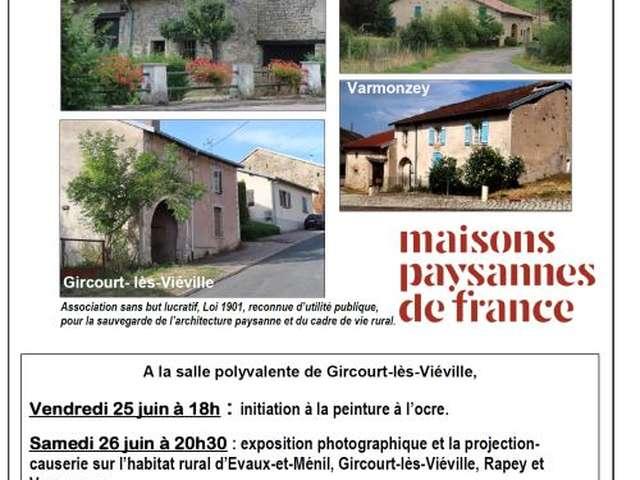 À LA DÉCOUVERTE DE GIRCOURT LES VIÉVILLE - EXPOSITION PHOTOGRAPHIQUE ET PROJECTION-CAUSERIE