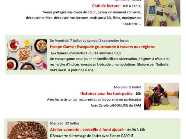 CLUB DE LECTURE - MÉDIATHÈQUE
