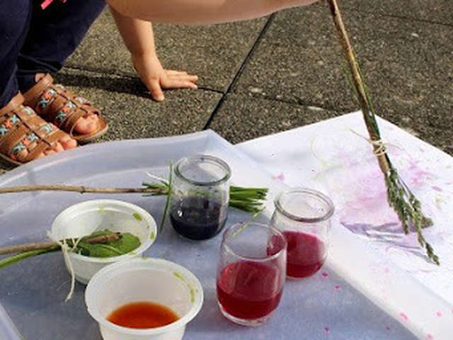Atelier Artistique : peinture végétale
