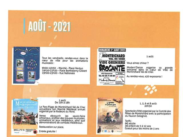 Animations estivales août 2021