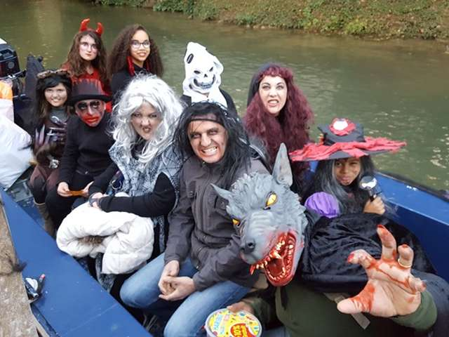 Balade en barque Halloween