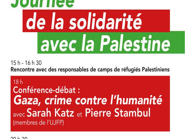 Journée de solidarité avec la Palestine