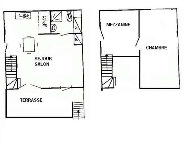 Appartement / 6 personnes / GRANDE BLEUE