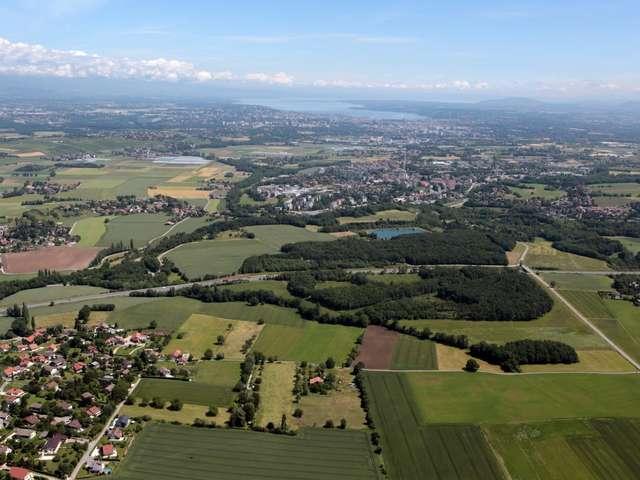 VTT - Paysages franco-suisses : Soral-Thairy-Laconnex