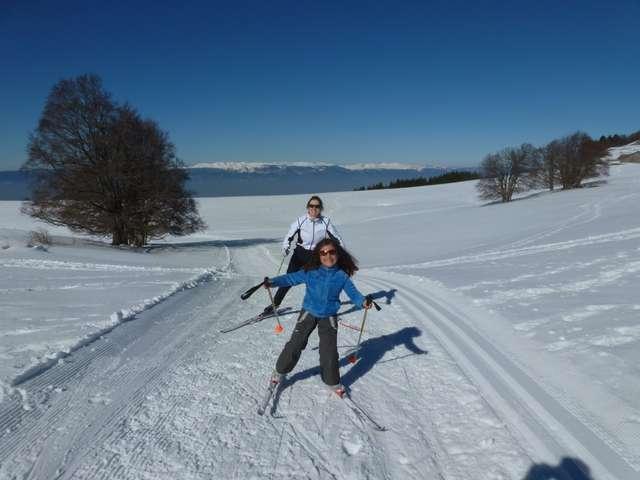 Ski de fond à la Croisette-piste bleue-Les pitons
