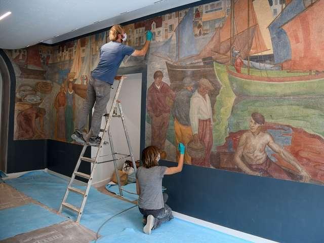 « Les ports de Saint-Nazaire 1933 », visite découverte de la fresque restaurée