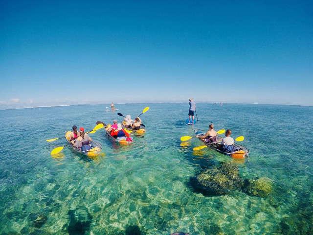 Kayak Transparent et Paddle