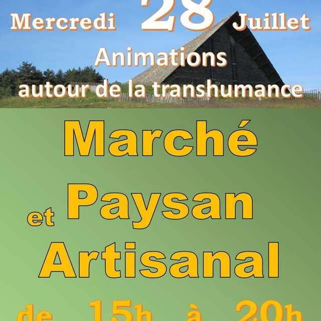 MARCHÉ PAYSAN ET ARTISANAL & ANIMATIONS AUTOUR DE LA TRANSHUMANCE