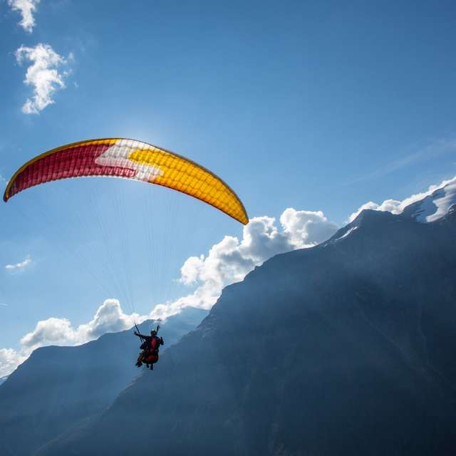 Paragliding take off and drop zones in Aussois