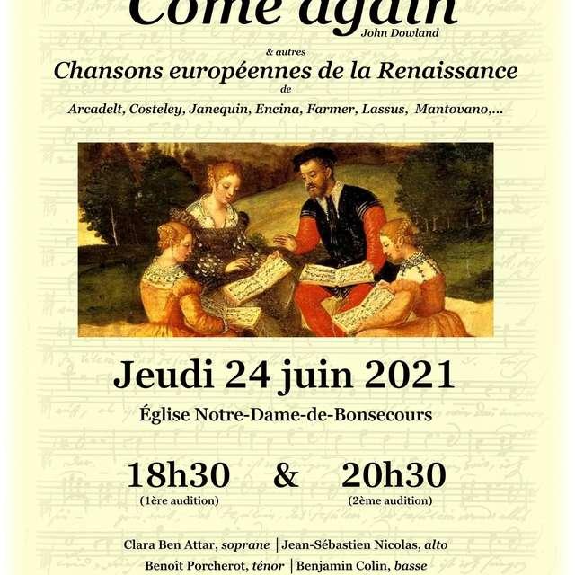 'COME AGAIN'...ET AUTRES CHANSONS DE RENAISSANCE