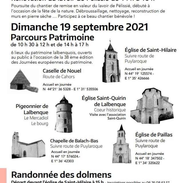Journées Européennes du Patrimoine : Randonnée des Dolmens
