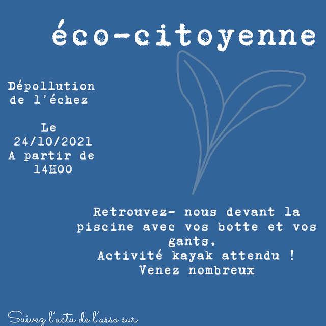 Journée éco-citoyenne, dépollution de l'Echez