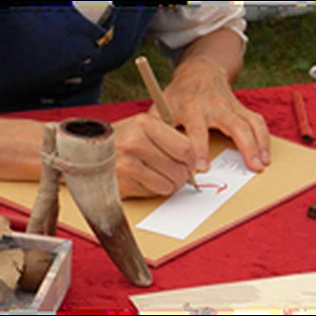 Atelier calligraphie médiévale au Château de Montaner