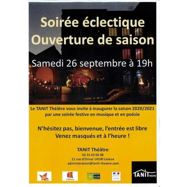 Soirée d'ouverture de saison au Tanit Théâtre, à Lisieux
