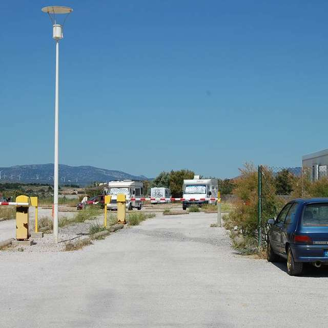 Aire camping car - Mouret - Leucate Plage