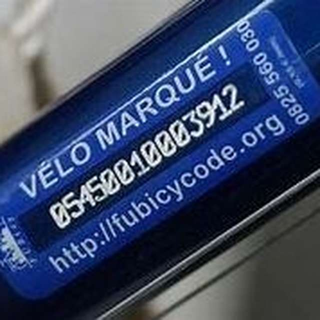 Marquage vélos antivol Bicycode