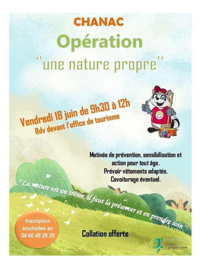 OPÉRATION ''UNE NATURE PROPRE''