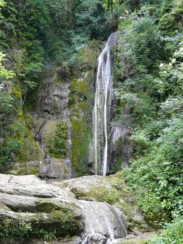 La cascade de la Vallière, Vallon des Faulx, ENS de l'Ain