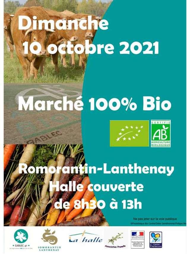 Marché 100% bio à Romorantin-Lanthenay