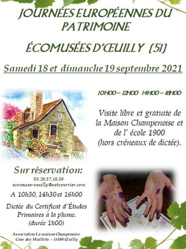 Journées Européennes du Patrimoine - Ecomusée d'Oeuilly
