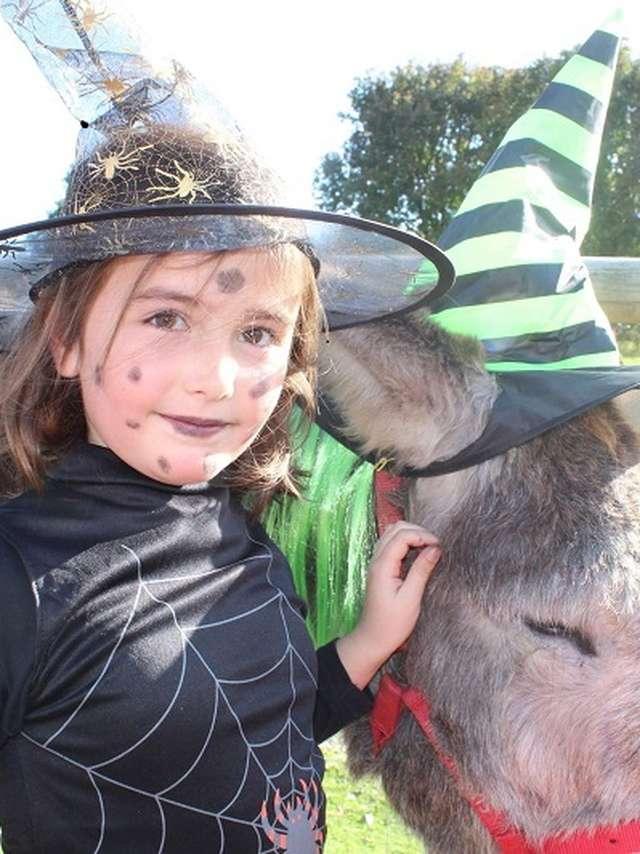 Balade effrayante avec les ânes et la sorcière Grabouilla