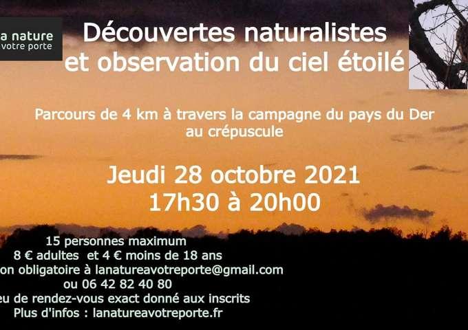 Découvertes naturalistes et observation du ciel étoilé