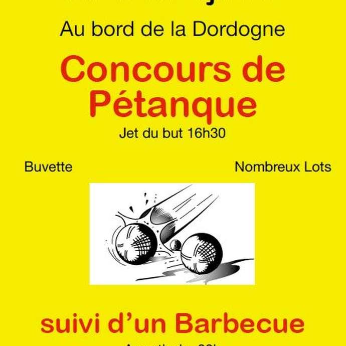 Concours de pétanque à Cazoulès