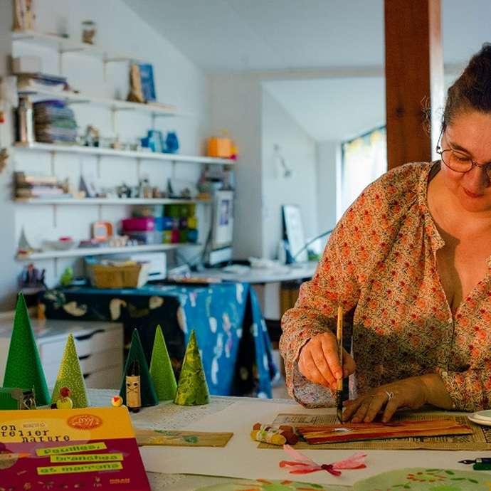 Ateliers d'automne : art et nature, peinture et création.
