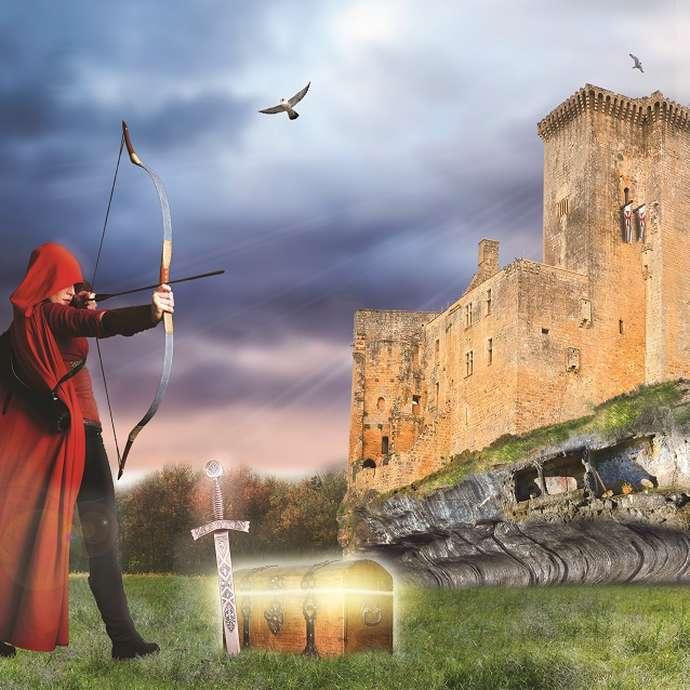 Tir à l'arc au Château de Commarque