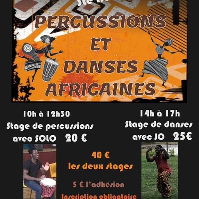 Stage de percussions et danses africaines