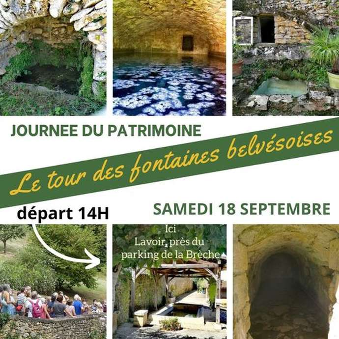 Journée du Patrimoine: Promenade des fontaines de Belvès