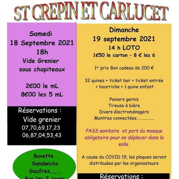 Week-end festif à St Crépin et Carlucet