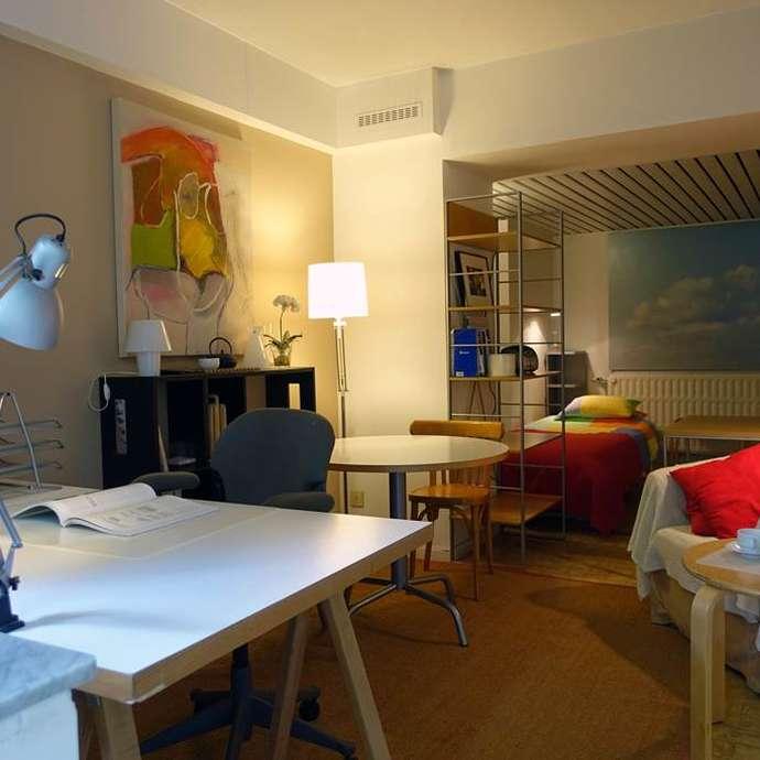 Franz Merjay studio meublé jardin