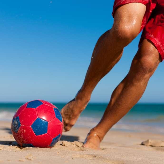 Sport à la plage encadré