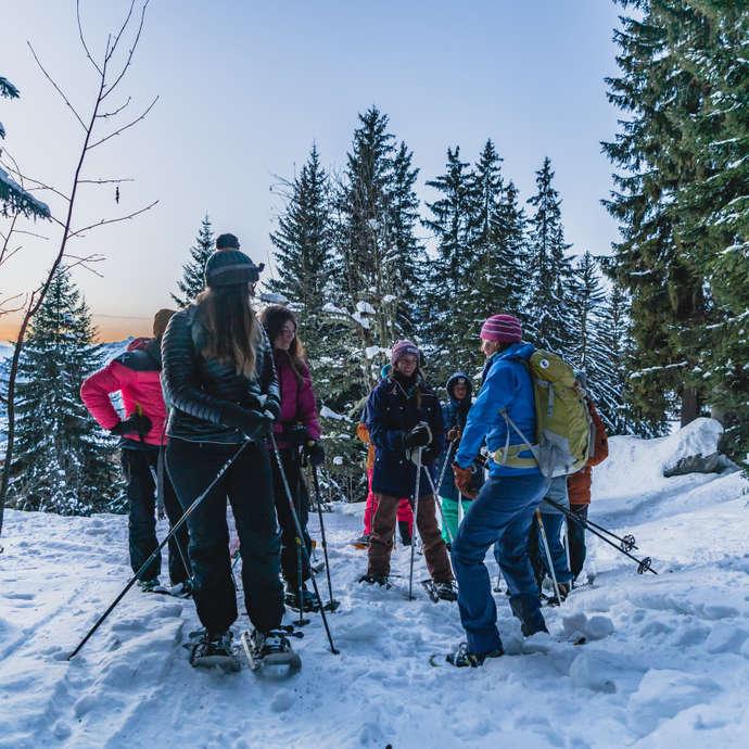 Thematische Schneeschuhwanderung - Der Schnee