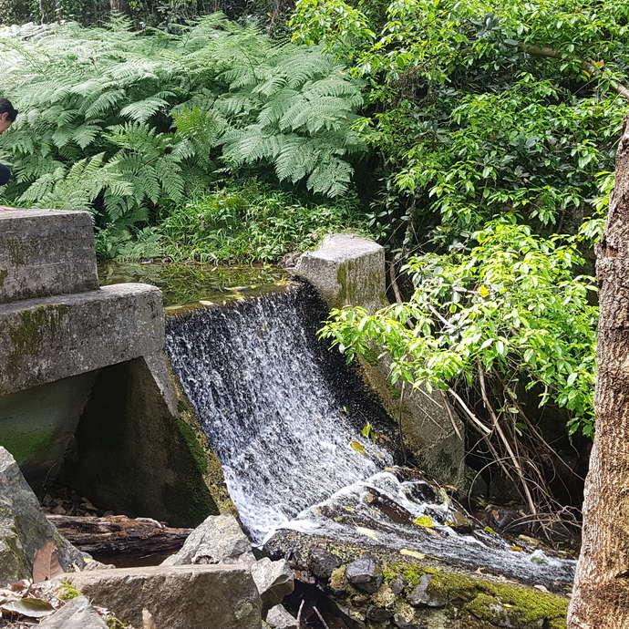 L'Ancien barrage de Yahoué