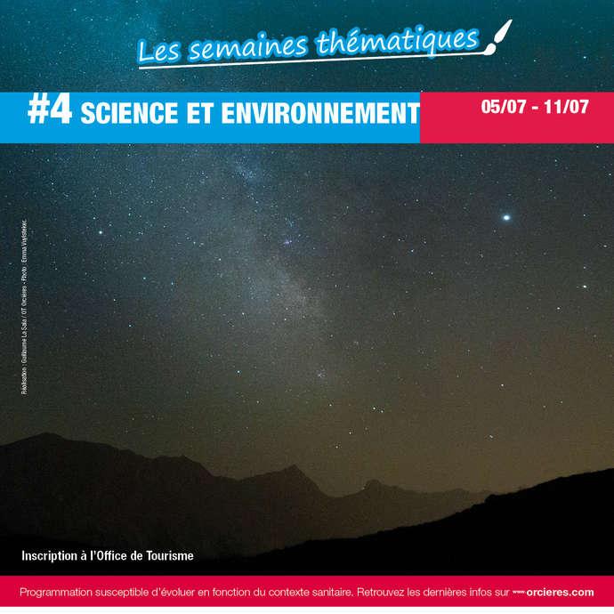 """Semaine à thème """"Science et environnement"""""""