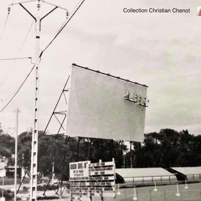 """Ancien """"cinéma drive-in"""" du Pont-des-français"""