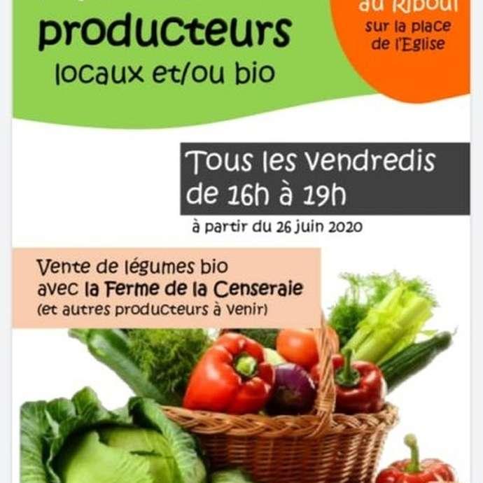 MARCHÉ HEBDOMADAIRE DE PRODUCTEURS LOCAUX A LA CHAPELLE-AU-RIBOUL