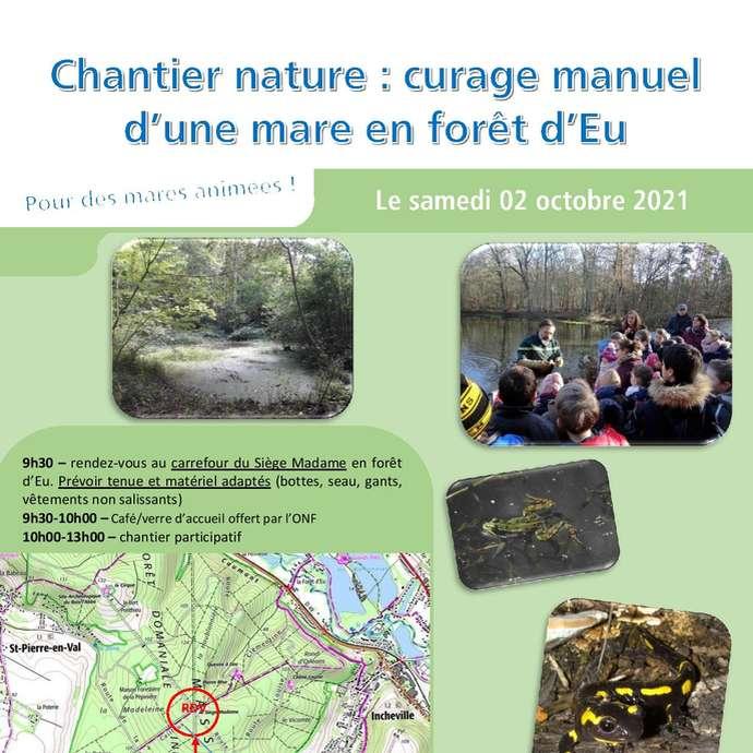 [ANIMATION CONFIRMEE] - Chantier nature : curage manuel d'une mare en forêt d'Eu